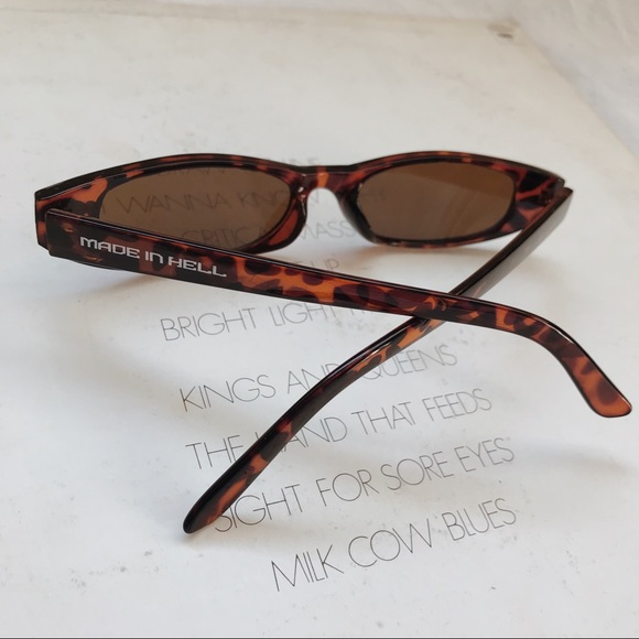 "4bb9f301 Internet Girl Clothing Accessories - Leopard Print Igirl ""Made In Hell""  Sunglasses"